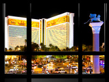 Window View, Special Series, Strip, Resort Casino the Mirage, Las Vegas, Nevada, United States Photographic Print by Philippe Hugonnard