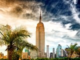 Duo Sky, Empire State Building, Landscape, Manhattan, New York -United States Photographic Print by Philippe Hugonnard