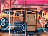 Street Art, Graffiti, Philadelphia, Pennsylvania, United States Photographic Print by Philippe Hugonnard