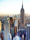 Urban Stretch Series, Fine Art, Landscape, Empire State Building, Manhattan, New York, US Photographic Print by Philippe Hugonnard