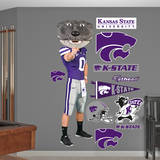 Kansas State Wildcats Willie Mascot Wall Decal Wallstickers