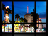 Window View, Special Series, Night, Hollywood Blvd, Los Angeles, California, United States Photographic Print by Philippe Hugonnard