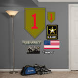 US Army 1st Infantry Insignia Wall Decal Adhésif mural