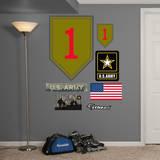 US Army 1st Infantry Insignia Wall Decal Kalkomania ścienna