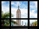 Window View, Special Series, Urban Landscape, Empire State Building View, Manhattan, New York Photographic Print by Philippe Hugonnard