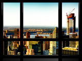 Window View, Upper West Side and Hudson River Views, Manhattan, New York Photographic Print by Philippe Hugonnard