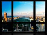 Window View, Special Series, Central Park, Sunset, Manhattan, New York, United States Fotografie-Druck von Philippe Hugonnard