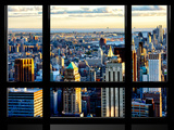 Window View, Special Series, Skyscrapers View at Sunset, Midtown Manhattan, NYC Photographic Print by Philippe Hugonnard