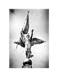 Gold Statue Atop World War I Memorial, Washington D.C, District of Columbia, White Frame Photographic Print by Philippe Hugonnard