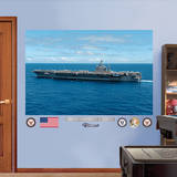 USS Abraham Lincoln CVN - 72 Mural Wall Decal Kalkomania ścienna