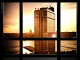 Window View, Sunset, Meatpacking District, Chelsea, Hudson River, Manhattan, New York Photographic Print by Philippe Hugonnard