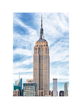 Empire State Building, White Frame, Full Size Photography, Manhattan, New York -United States Photographic Print by Philippe Hugonnard