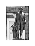George Washington Statue at Independence Hall, Philadelphia, Pennsylvania, US, White Frame Photographic Print by Philippe Hugonnard