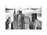 Landscape, Empire State Building and the Newyorker Hotel, Manhattan, New York, White Frame Photographic Print by Philippe Hugonnard