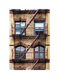 Fire Escape, Stairway on Manhattan Building, New York, US, White Frame, Full Size Photography Photographic Print by Philippe Hugonnard