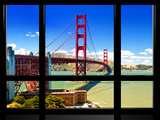 Window View, Special Series, Golden Gate Bridge, San Francisco, California, United States Photographic Print by Philippe Hugonnard