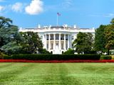 The White House South Lawn, Official Residence of the President of the US, Washington D.C Photographic Print by Philippe Hugonnard