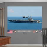 USS George H.W. Bush CVN - 77 Mural Wall Decal Kalkomania ścienna