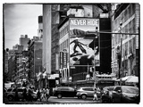 Urban Scene, Chinatown, Manhattan, New York, United States, Black and White Photography Photographic Print by Philippe Hugonnard