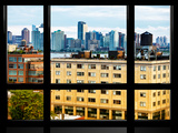 Window View, Rooftops at Chelsea with View of Hoboken and Hudson River, Manhattan, New York Photographic Print by Philippe Hugonnard