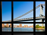 Window View, Special Series, Manhattan Bridge, East River, Manhattan, New York, United States Photographic Print by Philippe Hugonnard