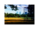 Baseball Game in Central Park, Manhattan, New York City, White Frame, Full Size Photography Photographic Print by Philippe Hugonnard
