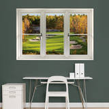 Fall Golf Tee Box Window Decal Sticker Naklejka na okno
