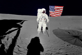 NASA Astronaut Spacewalk Moon Poster Photo