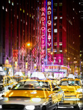 Urban Vibrations Series, Fine Art, Radio City Music Hall, New York City, United States Photographic Print by Philippe Hugonnard