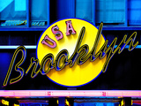 USA Brooklyn Sign, Manhattan, New York, United States Photographic Print by Philippe Hugonnard