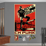 WWE - CM Punk Illustration Mural Wall Decal Wall Decal