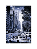 Columbus Circle, Yellow Cab and NYPD Vehicule, Central Park West, Manhattan, New York Photographic Print by Philippe Hugonnard