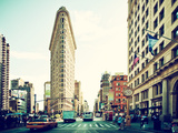 Landscape of Flatiron Building and 5th Ave, Manhattan, New York City, United States Photographic Print by Philippe Hugonnard