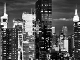 Times Square with Empire State Building, Architecture and Buildings, Manhattan, NYC Photographic Print by Philippe Hugonnard
