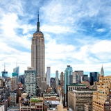 Cityscape Manhattan, Empire State Building, Urban Landscape, New York, United States Photographic Print by Philippe Hugonnard
