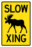 Slow - Moose Crossing Print