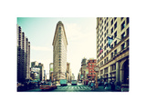 Landscape of Flatiron Building and 5th Ave, Manhattan, NYC, US, White Frame, Full Size Photography Photographic Print by Philippe Hugonnard