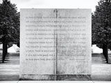 Text of FDR's Four Freedoms Speech, Memorial to the President, Manhattan, New York Photographic Print by Philippe Hugonnard