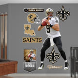 NFL New Orleans Saints Drew Brees Wall Decal Wall Decal