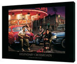 Legendary Crossroads Stretched Canvas Print