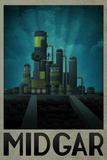 Midgar Retro Travel Poster Print