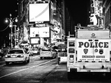 Yellow Cabs and Police Truck at Times Square by Night, Manhattan, New York Photographic Print by Philippe Hugonnard