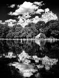 Landscape Mirror, Central Park, Conservatory Water, Manhattan, New York Photographic Print by Philippe Hugonnard