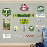 MLS Portland Timbers Portland Timbers Logo Collection Wall Decal Wall Decal
