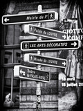 Signpost, the Louvre, Paris, France Photographic Print by Philippe Hugonnard