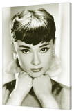 Audrey Hepburn - Sepia Stretched Canvas Print