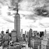 Cityscape Manhattan, Black and White Photography, Empire State Building, Urban Landscape, New York Photographic Print by Philippe Hugonnard
