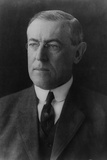 President Woodrow Wilson (Portrait) Plastic Sign Plastic Sign