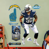 NFL San Diego Chargers Manti Te'o Wall Decal Wall Decal