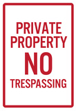 Private Property No Trespassing Sign Poster Photo